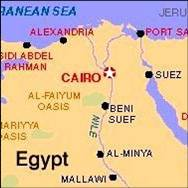 cairo in africa map